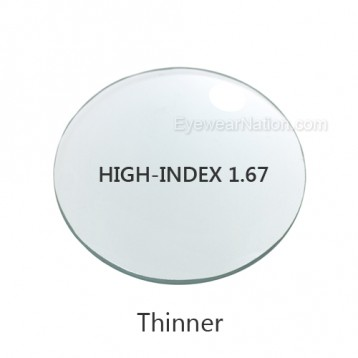 High-Index 1.67 Progressive Lenses (No Line Bifocals)