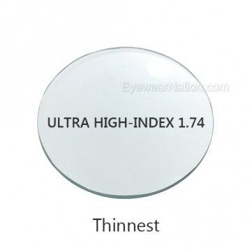 Ultra High-Index 1.74 Progressive Lenses (No Line Bifocals)